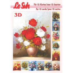 Carterie 3D LIVRE A5 - 12 cartes - Bouquets fleurs