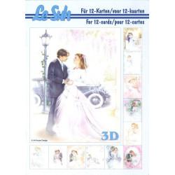 Carterie 3D LIVRE A5 - 12 cartes - Mariage