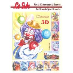 Carterie 3D LIVRE A5 - 12 cartes - Le cirque