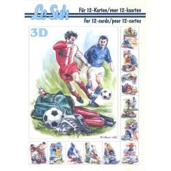 Carte 3D livret A5 à découper - 12 cartes - sport