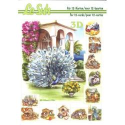 Carterie 3D LIVRE A5 - 12 cartes - Les animaux