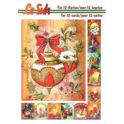 Carterie 3D LIVRE A5 - 12 cartes - Bougie Noël