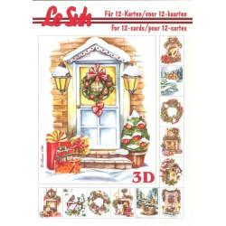 Carterie 3D LIVRE A5 - 12 cartes - Noël