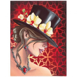 image pour tableaux 3D GK3040039 - Femme cabaret - Format 30x40 cm .