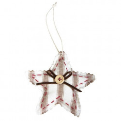 """Pendent.textile etoile """"country love"""""""