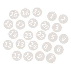 Papier calendrier de l'avent 1-24
