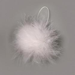 Boules de plumes paillettes 3 cm