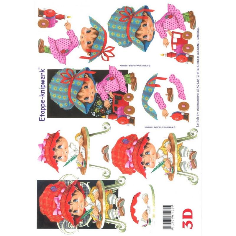 Carterie 3D A4 à découper - Enfants 4169148