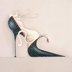 Image pour tableaux 3D GK3030003 format 30x30 cm Chaussure et chat