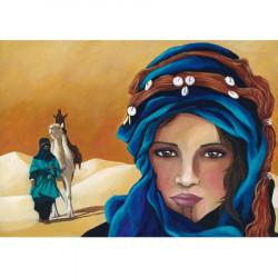 Image pour tableaux 3D 30x40 cm GK3040013 Femme désert