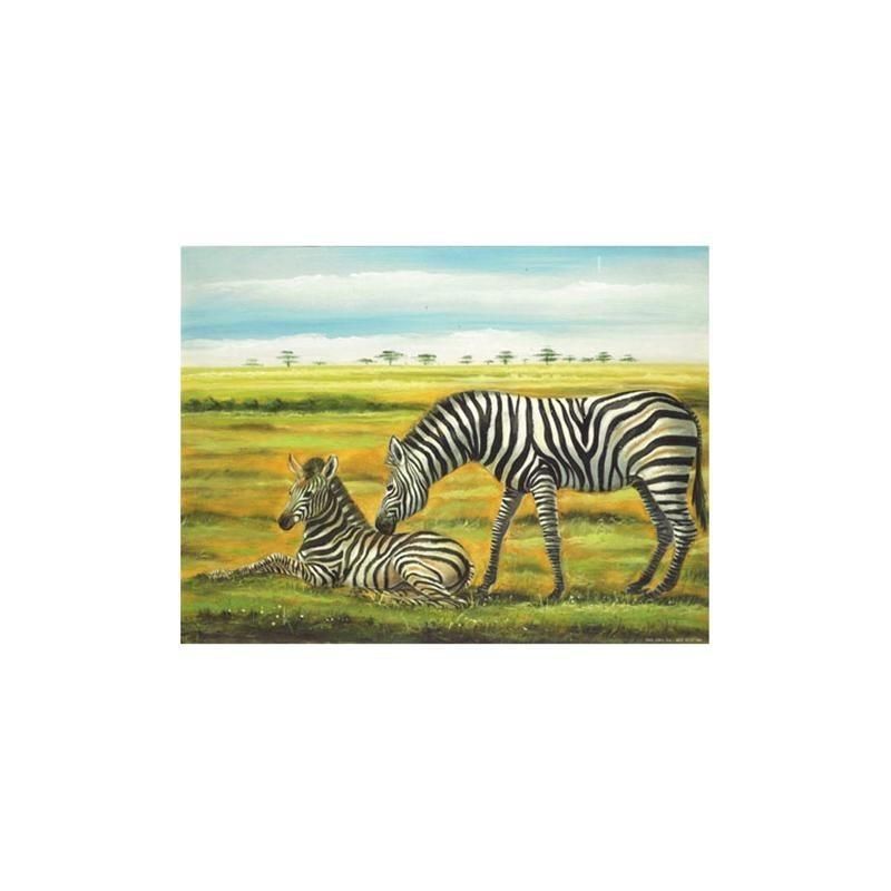 Image pour tableaux 3D - 9207166 - 24X30 - ZEBRES - Aux Bleuets Loisirs créatifs à Reims