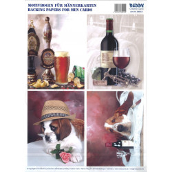 Carterie 3D Prédécoupée A4 - 84012 - Recto/verso vin