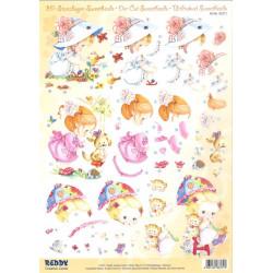 Carterie 3D Prédécoupée A4  - 83371 - Fillette et animaux