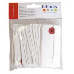 Artemio 50 étiquettes fil...