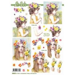 Carterie 3D Prédécoupée - Filles en fleurs