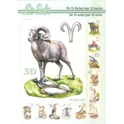 Carterie 3D LIVRE A5 - 12 cartes - Zodiaque