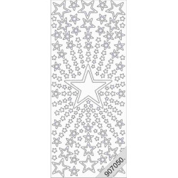 Stickers - 7050 - holo - argent