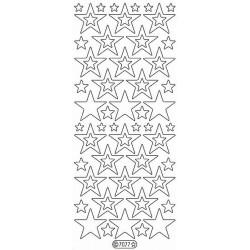Stickers - 7077 - etoile - glitter rouge