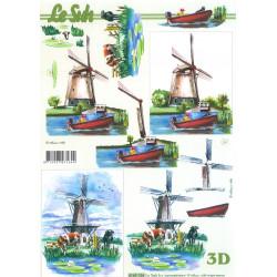 Carterie 3D A4 à découper  - Moulin à vent 4169154