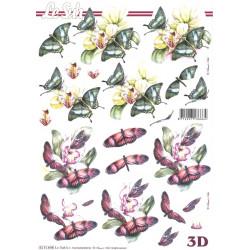FEUILLE 3D ETAPE - Fleur Papillon