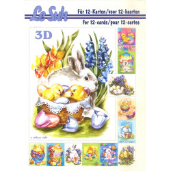 Carterie 3D LIVRE A5 - 12 cartes - Pâques