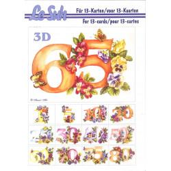 3D LIVRE A5 - 12 cartes - Anniversaires