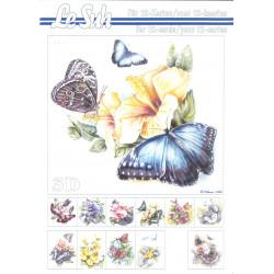 3D LIVRE A5 - 12 cartes - Papillon Fleur