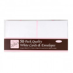 Cartes carrées blanches 135x135 + enveloppes paquet de 50