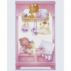 Image 3D - gk2430063 - 24x30 - commode bébé fille