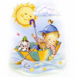 Image pour tableaux 3D GK2430065 - 24x30 - ENFANT PARASOL