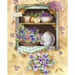 Image pour tableau 3d GK2430067 -  format 24x30 cm Etagère fleurie