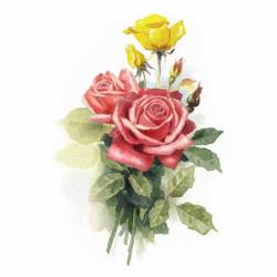 Image 3D - gk2430070 - 24x30 - roses jaune et rouge