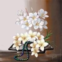 Images pour tableaux 3D sur les fleurs format 30x30 cm
