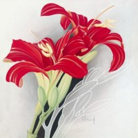 Images 3D sur les fleurs Format 40x40 cm