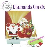 Broderie diamant carte 18x18 cm