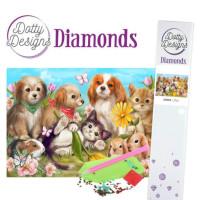 Broderie diamant toile 29.7 x 42 cm