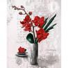 GK2430083 - 24x30 - Orchidées rouges vase haut